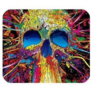 Sugar Skull Rubber Gaming Mouse Pad Cover Rectangle Mouse Pad 9.84