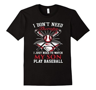 Men's  I just need to watch my son play baseball T-shirt Small Black
