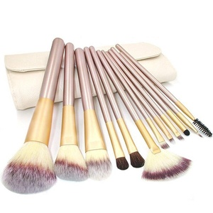CINEEN 12PCS Makeup Cosmetic Brush Tool with Eyeliner Eye Shadow Brow Lip Brush Beauty Tool with A Make Up Bag for women