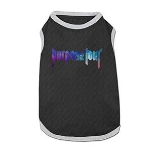 Justin Bieber Purpose World Tour Sky Logo Dog Shirt Pet Clothes Black M (4 Colors)