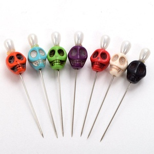 Blessume 7pcs Ritual Pins Skull