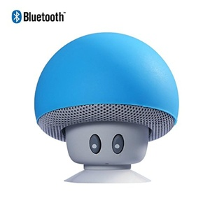 Sudroid Mushroom Mini Wireless Portable Bluetooth 4.1 Speakers with Mic for Iphone Ipad Laptop Samsung HTC Lg Sony Cell Phones (Blue)