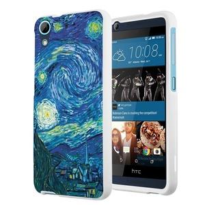 HTC Desire 626s Case, HTC Desire 626 Case, Capsule-Case Slim Fit Snap-on White Hard Case for HTC Desire 626s / HTC Desire 626 - (Starry Night)