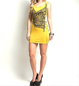 LAST ONE IN STOCK! Butterfly Studded Lace Up Sides Tank Dress