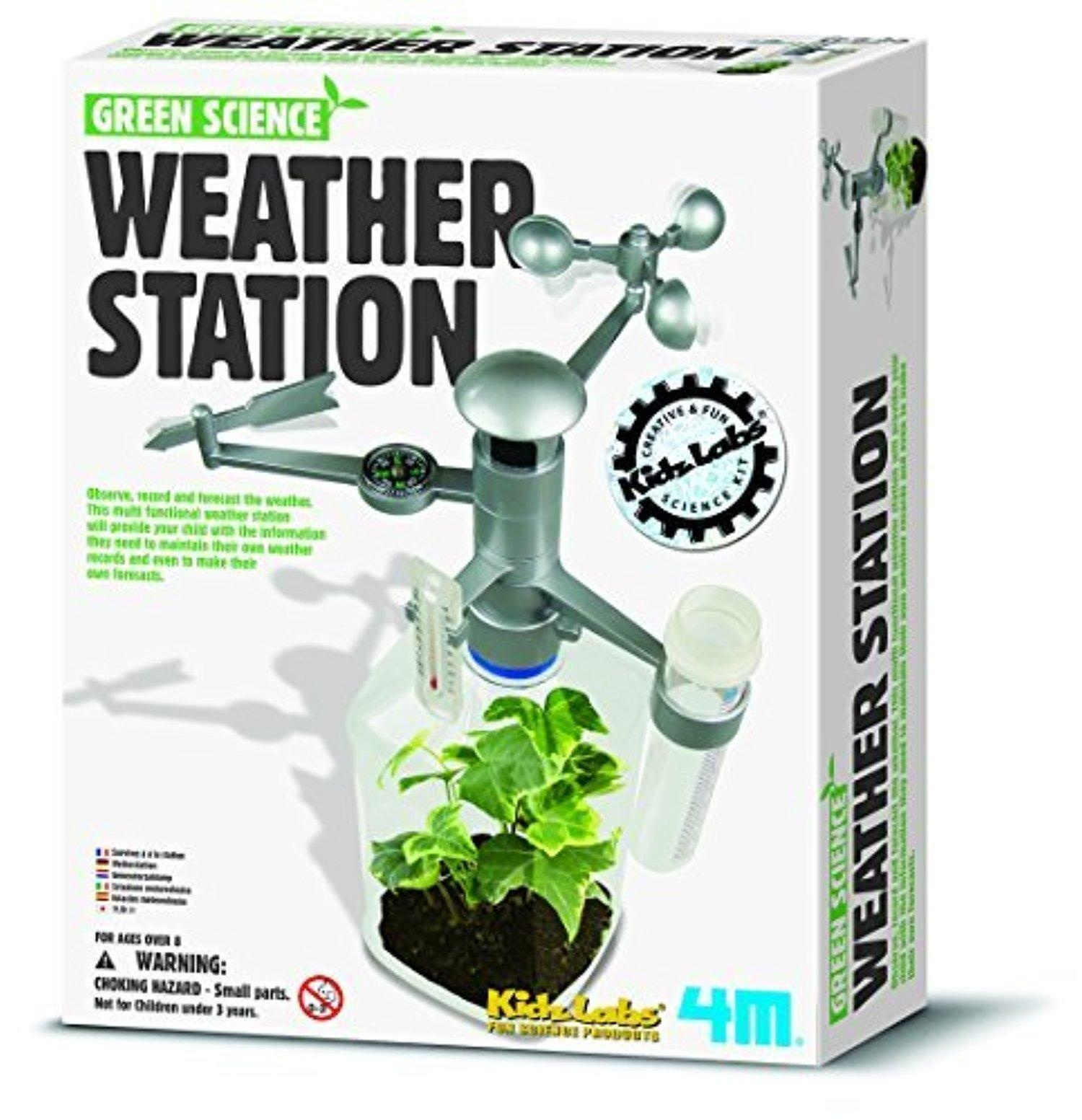 line Store Green Science Weather Station Children Kids Boys