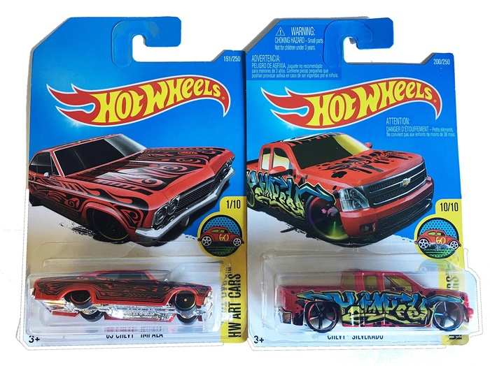 online store hot wheels art cars 2016 1965 chevy impala. Black Bedroom Furniture Sets. Home Design Ideas