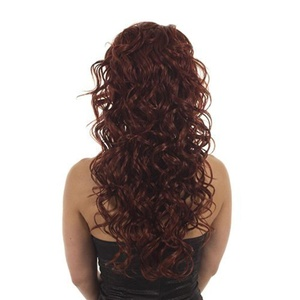Hair By MissTresses Long Curly Half Wig Extensions Hairpiece, Garland Red by Hair By MissTresses