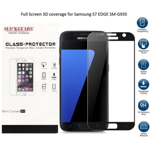 [SlickGearsTM] Samsung Galaxy S7 Edge SM-G935 UltraClear Impact and Abrasion Resistant Tempered Glass Screen Protector (S7 Edge Full Cover)