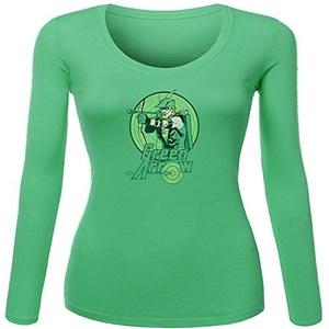 Green Arrow for Women Printed Long Sleeve Cotton T-shirt