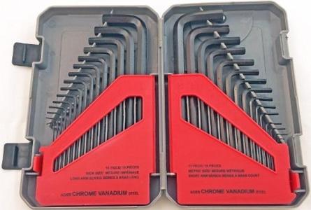 Fuller Tool 130-8030 30-Piece Combo SAE/Metric Hex Key Set by Fuller Tool