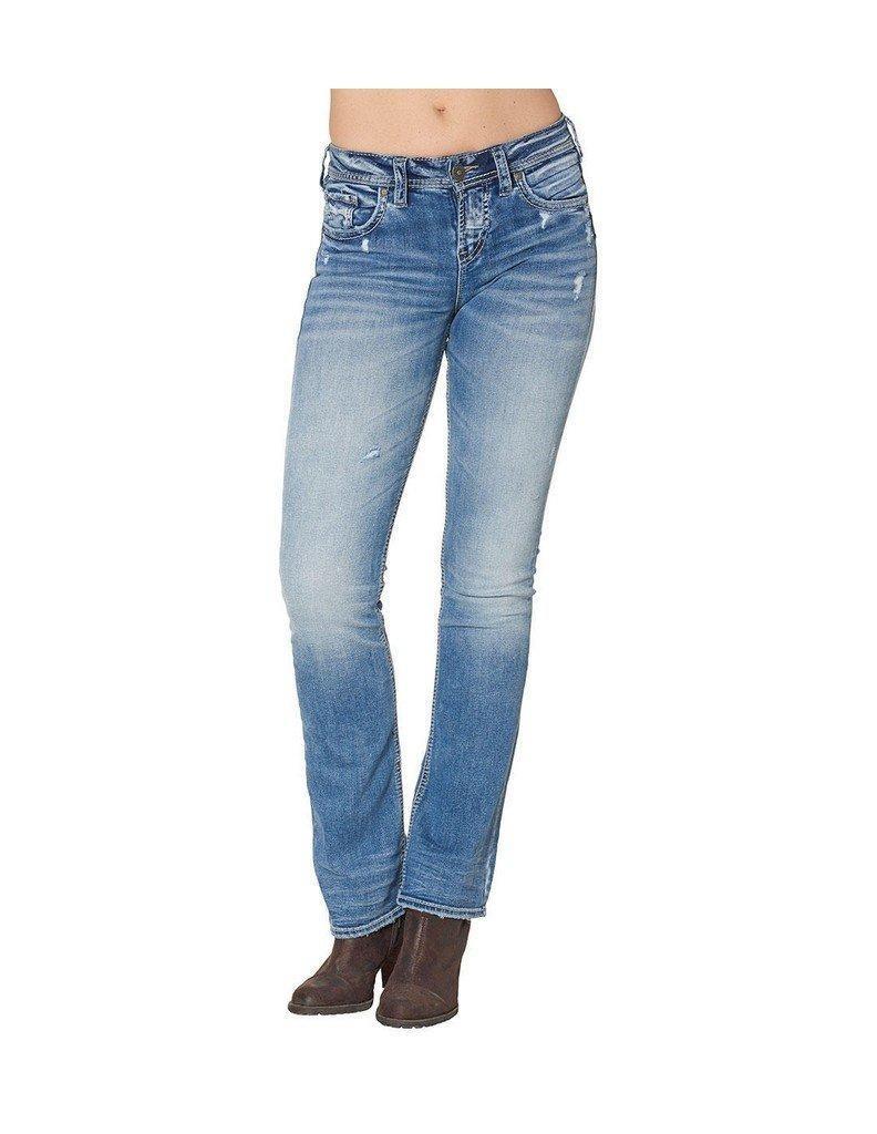 Silver Jeans Denim Womens Suki Bootcut 25 x 31 Light Wash L94715SSX238
