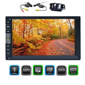 EinCar 7 inch Universal 2 Din Car Stereo Head Unit Car NO DVD Player HD Multimedia Bluetooth SD USB Radio Entertainment with capacitive Touch Screen Head Unit & wireless HD Reversed Camera