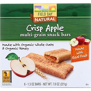 Field Day Snack Bars - Organic - Multi-Grain - Filled - Crisp Apple - 6/1.3 oz - case of 6 by Field Day