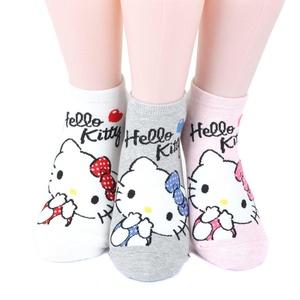 Hello Kitty Series Women's Original Socks 3 pairs (3 color) = 1 pack Made in Korea 01