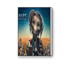 Canvas Prints Wall Art Decor - Cartoons Mars - Modern Beautiful Wall Decor/ Home Decoration Stretched Gallery Canvas Wrap Giclee Print & Ready to Hang -12