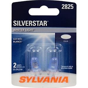 SYLVANIA 2825 SilverStar High Performance Miniature Bulb, (Pack of 2) by Sylvania