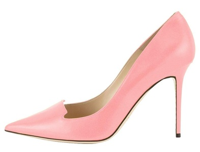 Maikool Women's Elegant Big Size Simple Style Stiletto High Heel Pointed Toe Cut-Out Office Pump Shoes 12 M US Pink