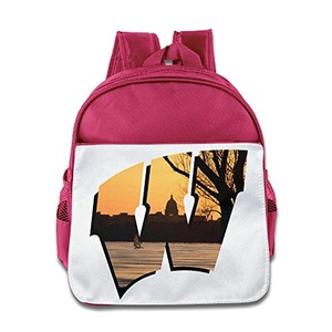 BestGifts Custom Superb University Of Wisconsin-madison Teenager School Bag For 1-6 Years Old Pink