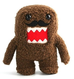 Licensed 2 Play Domo Moustache 6 1/2 Plush Novelty Doll by Licensed 2 Play