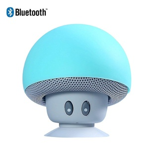Sudroid Mushroom Mini Wireless Portable Bluetooth 4.1 Speakers with Mic for Iphone Ipad Laptop Samsung HTC Lg Sony Cell Phones (Blue sky)