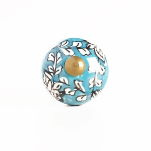 Blue Floral Mini Ceramic Knobs