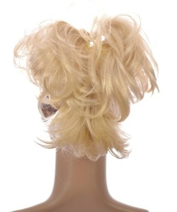 Platinum Blonde Flexihair Clip On Ponytail   Bendable Clip In Hairpiece   Eight Flexible Hairstrands to twist and mould as you like by Hair By MissTresses
