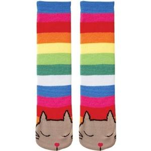 K. Bell Womens Tube Cat Novelty Non Skid Slipper Socks, Multi-color by K. Bell Socks