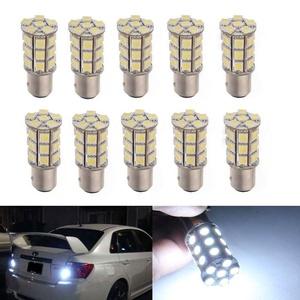 XT AUTO 10x 1157 BAY15D 7528 2057 2357 5050 27-SMD White LED Tail Brake Stop Light Bulbs