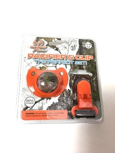 The Perfect Set Orange Camo Pacifier and Clip