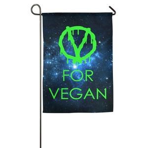 Designed Durable V For Vegan Popular Free Vegetarian Crazy Printed Garden Flag.