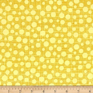 Michael Miller Hash Dot Yellow Fabric By The Yard