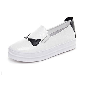 Lazy shoes leather pedal/High shoes/Thick-soled casual shoes-A Foot length=22.8CM(9Inch)