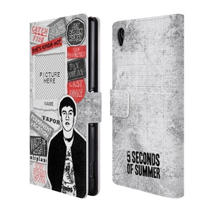 Custom Customized Personalized 5 Seconds Of Summer Calum Song Titles Leather Book Wallet Case Cover For Sony Xperia Z3
