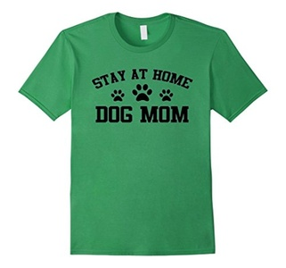 Men's Stay At Home Dog mom Shirt Large Grass