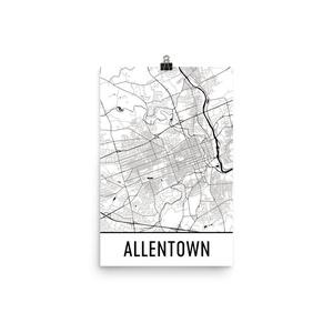 Allentown Print, Allentown Art, Allentown Map, Allentown Pennsylvania, Allentown Poster, Allentown Wall Art, Allentown Gift, Allentown Decor, Allentown Cityscape(12