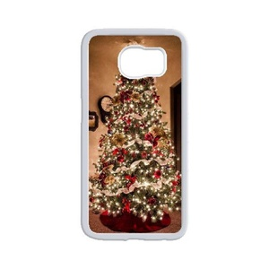 Samsung Galaxy Active Case, LEDGOD Fashionable Gift DIY Christmas Tree White Cover Phone Case for Samsung Galaxy Active Shell Phone.