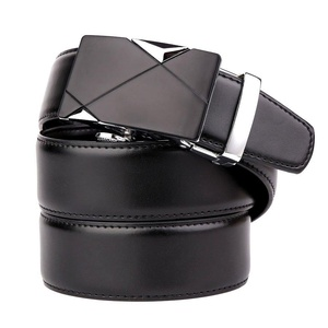 BOMEANS Mens Genuine Leather Dress Belt with Automatic Buckle