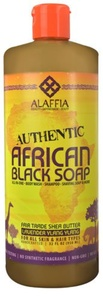 Alaffia Authentic African Black Soap Lavender Ylang Ylang -- 32 fl oz