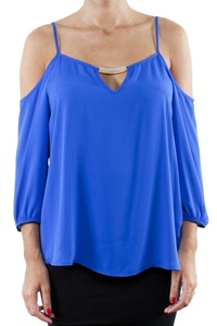 Lily White Juniors Off Shoulder Basic Top