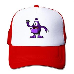 Man Mixels Flat Billed Trucker Cap With Mesh Back Adjustable Hat Caps