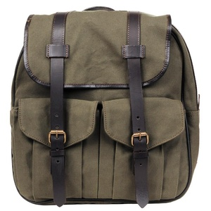 Wilsons Leather Mens Canvas Backpack W/ Leather Accents Green