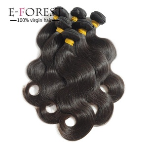 E-forest hair Virgin Brazilian Body Wave Human Hair Extension Unprocessed for black women,Pack of Three, 100g/Bundle, 7A Natural Color Weave Weft( 14 16 18 )