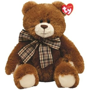 TY Classic Hobble Brown Country Bear with Plaid Ribbon by Ty Classic Hobble Brown Country Bear with Plaid Ribbon