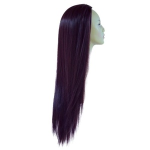 Elegant Hair - 22 Ladies 3/4 WIG Half Fall Clip In Hair Extension STRAIGHT Dark Plum #99J/1 250g by Elegant Hair