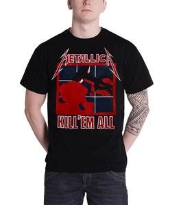 Metallica T Shirt Kill Em All Album Cover Band Logo Official Mens Black
