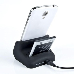Dual Sync Battery Charger Cradle Dock Station Stand For Samsung Galaxy S4