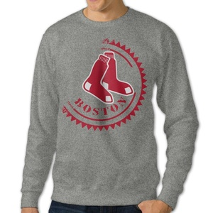 NUBIA Men's Red Sox Long Sleeve Hooded Ash S
