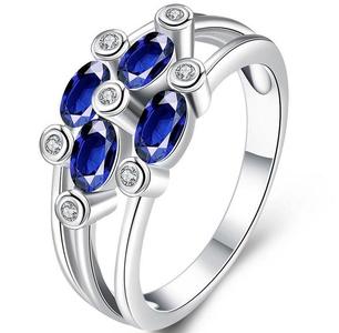 Cherryn Jewelry Luxury Platinum Plated CZ Ring Big Gem Amethyst Ring Wedding Bridal Jewelry