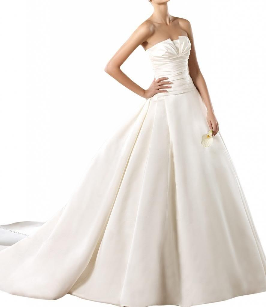 Gorgeous Bridal Ball Gown Strapless Wedding Dresses for Women Bridal Gown