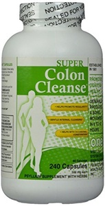 Super Colon Cleanse, 500mg, 240 capsules (Pack of 2) by Super Colon Cleanse